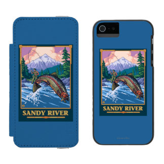 Fly Fishing Scene - Sandy River, Oregon Wallet Case For iPhone SE/5/5s