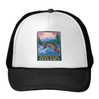 Fly Fishing Scene - Snake River, Idaho Trucker Hat