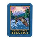 Fly Fishing Scene - Snake River, Idaho Rectangular Photo Magnet