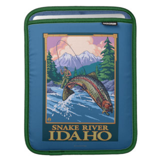 Fly Fishing Scene - Snake River, Idaho Sleeves For iPads
