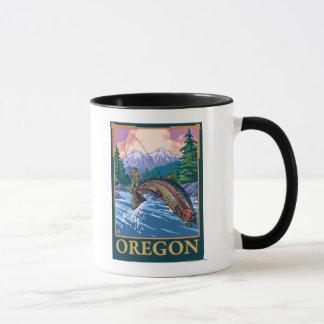 Fly Fishing Scene- Vintage Travel Poster Mug