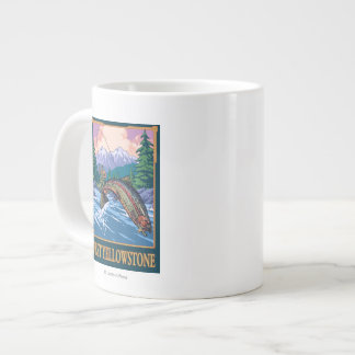 Fly Fishing Scene - West Yellowstone Large Coffee Mug