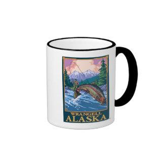 Fly Fishing Scene - Wrangell, Alaska Mug