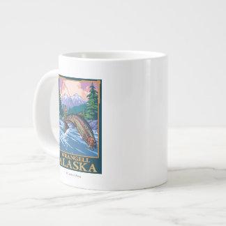 Fly Fishing Scene - Wrangell, Alaska Jumbo Mugs