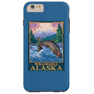 Fly Fishing Scene - Wrangell, Alaska Tough iPhone 6 Plus Case