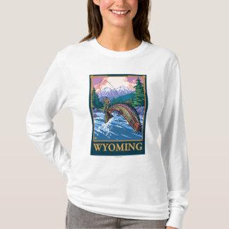 Fly Fishing Scene - Wyoming T-Shirt