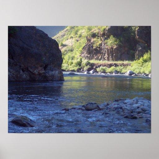 Fly fishing scenic kelly creek in idaho poster zazzle for Fly fishing boise idaho