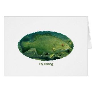 Fly Fishing Smallmouth Bass Logo Card