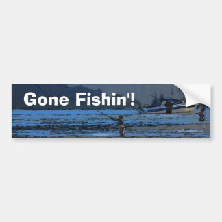 Fly Fishing Sportsmen Bumper Sticker
