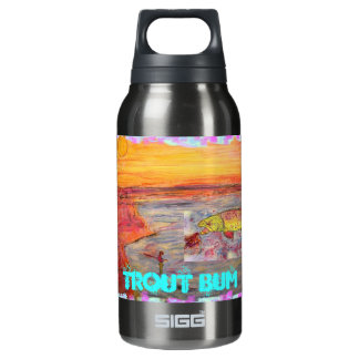 fly fishing sunset Trout Bum Insulated Water Bottle