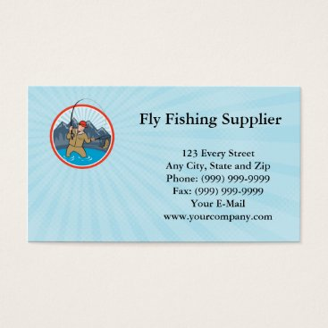 Professional Business Fly Fishing Supplier Business card