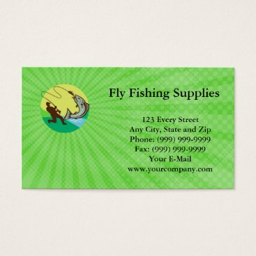 Professional Business Fly Fishing Supplies Business Card