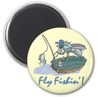 Fly Fishing T-shirts and Gifts 2 Inch Round Magnet