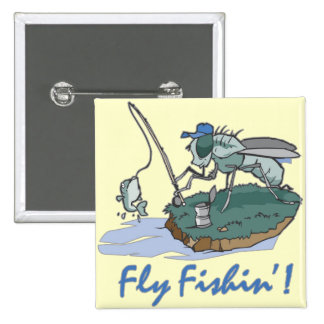 Fly Fishing T-shirts and Gifts 2 Inch Square Button