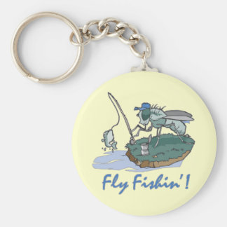 Fly Fishing T-shirts and Gifts Basic Round Button Keychain