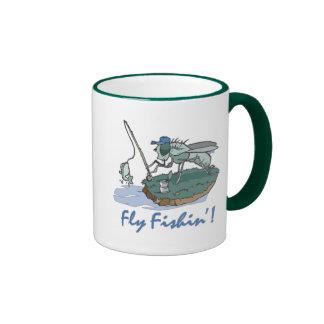 Fly Fishing T-shirts and Gifts Ringer Coffee Mug