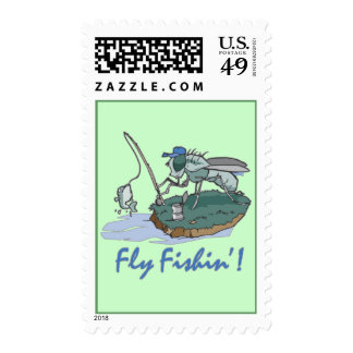 Fly Fishing T-shirts and Gifts Stamps