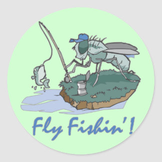 Fly Fishing T-shirts and Gifts Classic Round Sticker