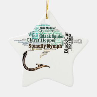 Fly Fishing Tee Shirts, Gifts and Novelties Ceramic Ornament