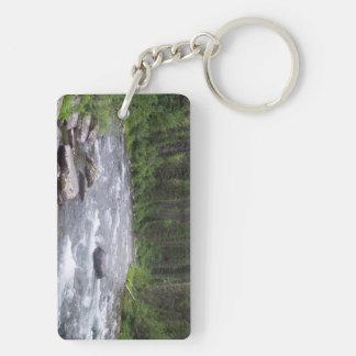 Fly fishing themed key ring. acrylic key chains