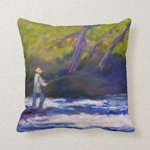 Fly Fishing Throw Pillow Zazzle