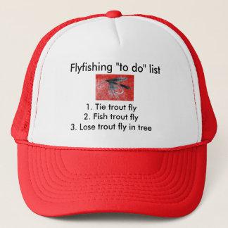 "Fly-fishing ""to do"" list ""Black Gnat"" Trucker Hat"