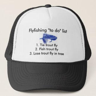 "Fly-fishing ""to do"" list ""Blue Matuka"" Trucker Hat"