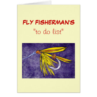 "Fly Fishing ""to do"" list card"