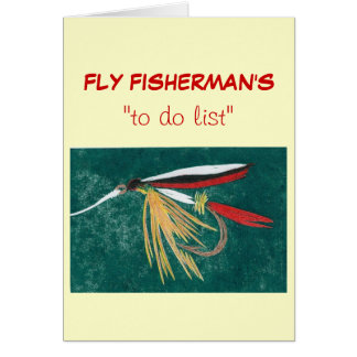 """Fly Fishing """"to do"""" list card"""
