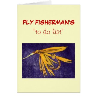 """Fly Fishing """"to do"""" list card """"Big Yellow May Wet"""""""