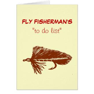 "Fly Fishing ""to do"" list card ""Brown Matuka"""