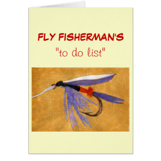 """Fly Fishing """"to do"""" list card """"Freight Train"""""""