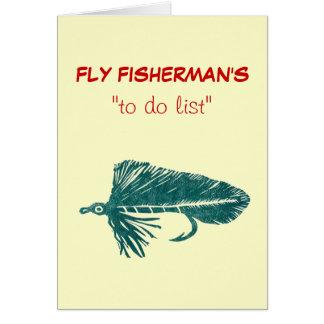 "Fly Fishing ""to do"" list card ""Green Matuka"""