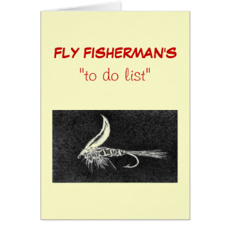 """Fly Fishing """"to do"""" list card """"Hare""""s Ear"""""""