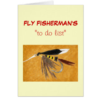 "Fly Fishing ""to do"" list card ""McGinty"""