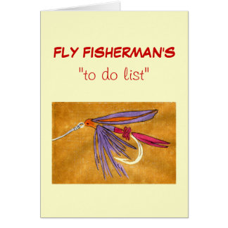 """Fly Fishing """"to do"""" list card """"Pink and Purple"""""""