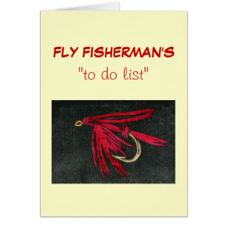 """Fly Fishing """"to do"""" list card """"Red Ibis"""""""