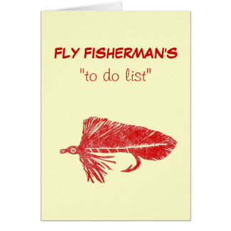 """Fly Fishing """"to do"""" list card """"Red Matuka"""""""