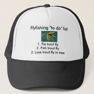 "Fly-fishing ""to do"" list ""Firecracker"" Trucker Hat"