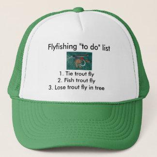 "Fly-fishing ""to do"" list ""Iron Blue Dun"" Trucker Hat"