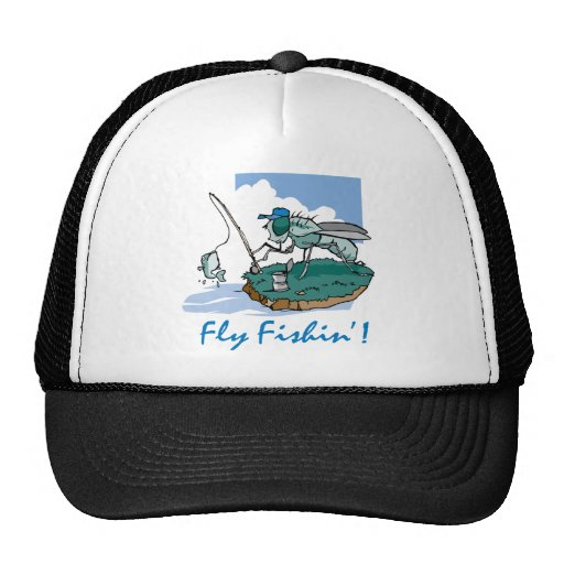 Fly fishing trucker hat zazzle for Fly fishing hat