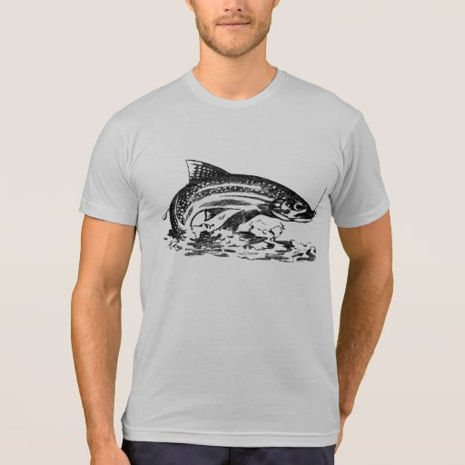 Fly fishing vintage look trout tee shirts zazzle for Fly fishing shirt