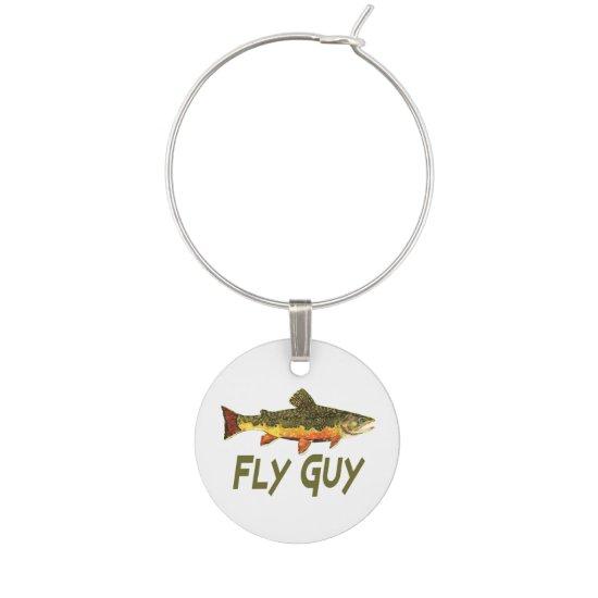 Fly Fishing Wine Charm