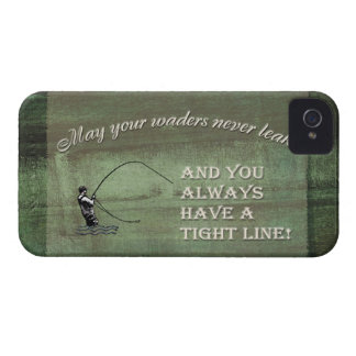 Fly fishing wish: May your waders never leak... iPhone 4 Case-Mate Cases