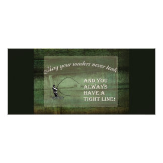 Fly fishing wish: May your waders never leak... Rack Card