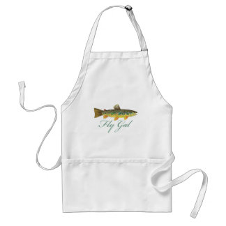 Fly Fishing Woman Adult Apron