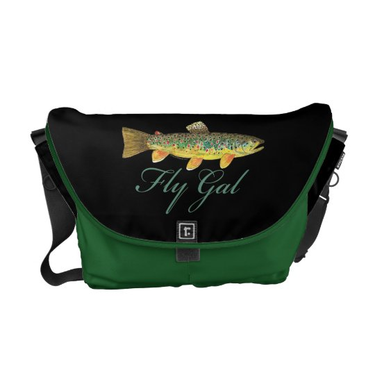Fly Fishing Woman Courier Bag