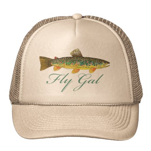 Fly fishing woman hats zazzle for Fly fishing hat