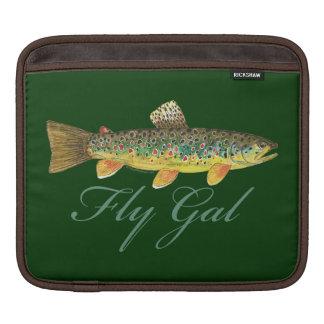 Fly Fishing Woman Sleeve For iPads