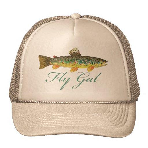 Fly fishing woman trucker hat zazzle for Fly fishing trucker hat